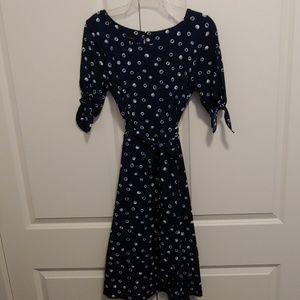 Talbots polka dot midi dress